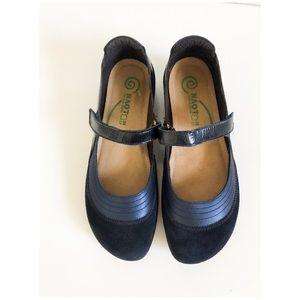 Naot Kirei Mary Jane Flat Shoes Size 38 US 7 Navy